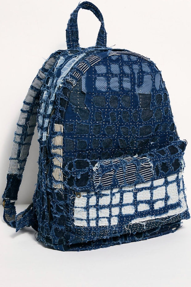 INDIGO PATCHWORK BACKPACK X FREE PEOPLE - MOMO NEW YORK