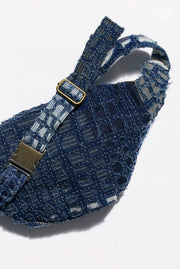 Indigo Patchwork Belt Bag MOMO NEW YORK