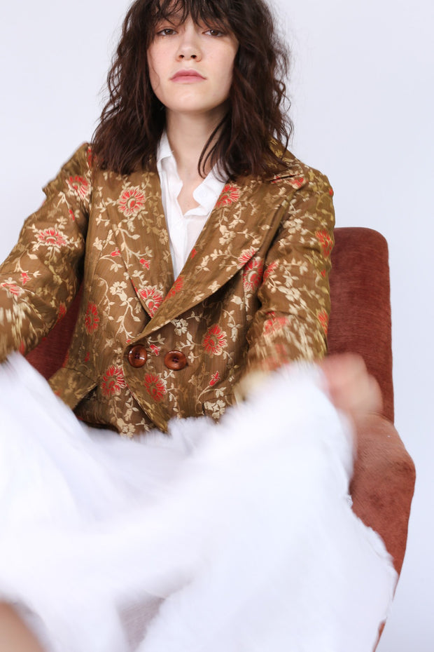 Jacket Frida in Flower Silk print MOMONEWYORK