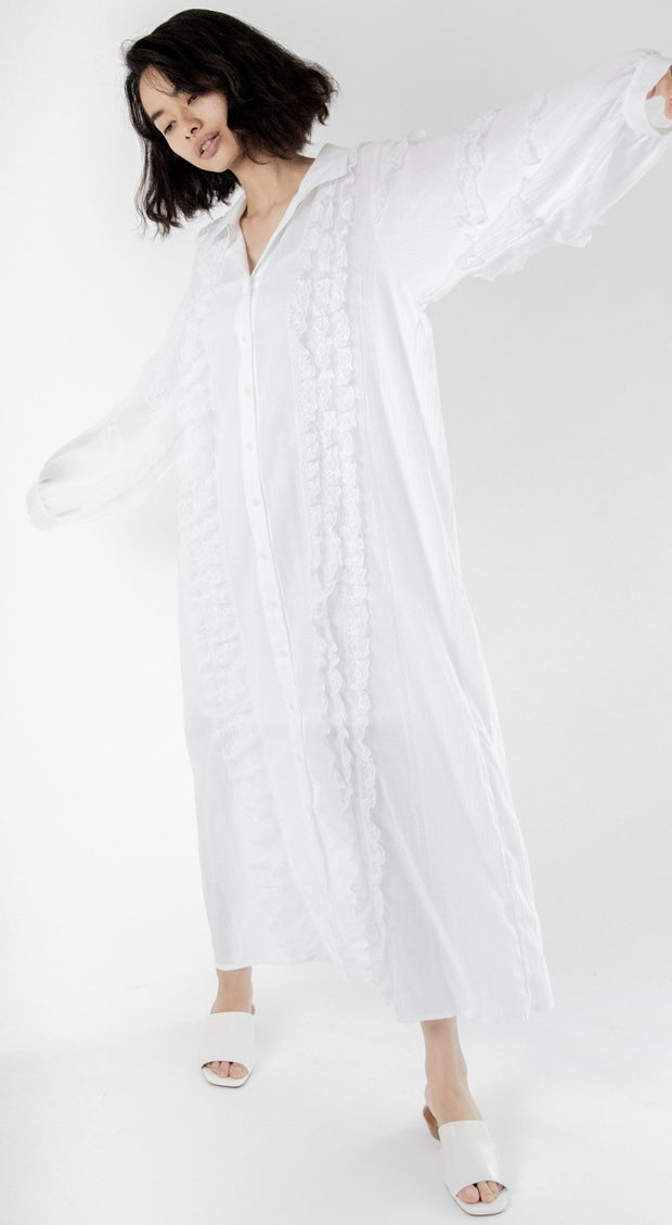 Kaftan Lace Detail Dress Homer MOMONEWYORK