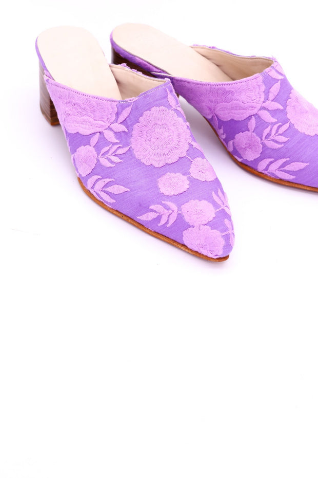 LAVENDER HEELED MULES ELLIE - MOMO NEW YORK