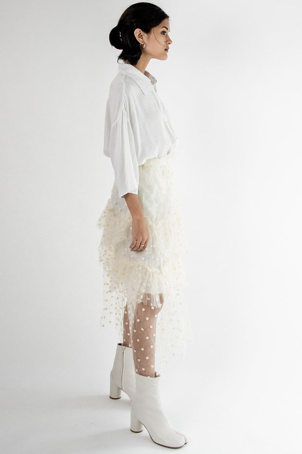 Layered Lace Skirt Jane MOMONEWYORK