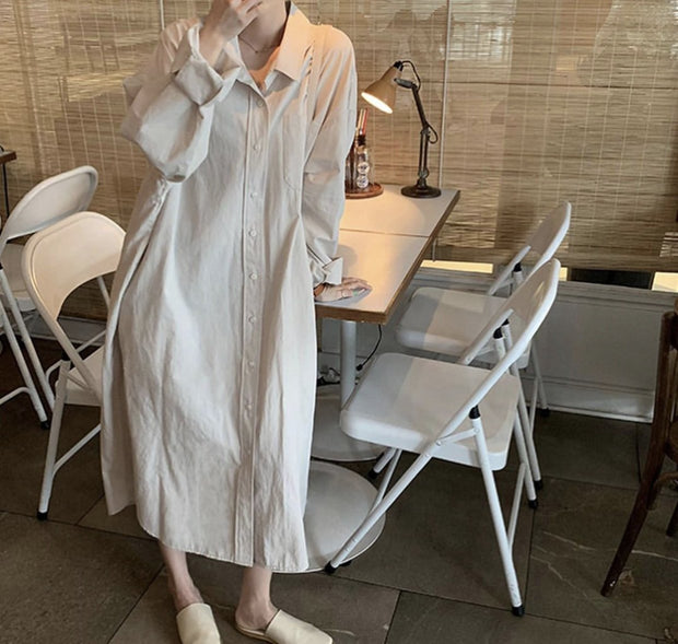 LAZY STAY AT HOME SHIRT DRESS NICOLE MOMO NEW YORK