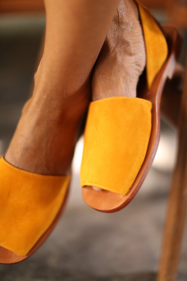 LEATHER SANDALS SUEDE FRANCES - MOMO NEW YORK