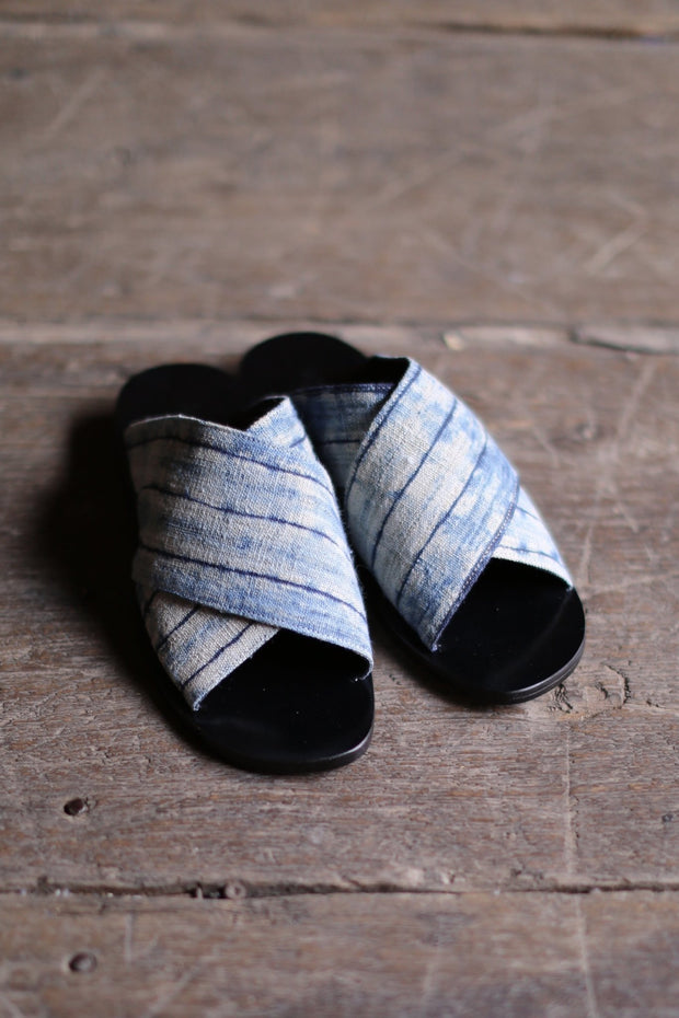 LEATHER SLIPPER SANDALS DOAN (INDIGO) MOMO NEW YORK