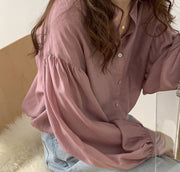 LONG SLEEVE LOOS DRESS SHIRT EBBA - MOMO NEW YORK