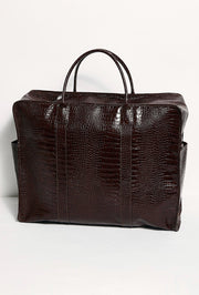 MIAMI MEGA CROCODILE EMBOSSED WEEKENDER BAG MOMO NEW YORK