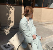 MINT BLAZER PANTS SET KIKO MOMO NEW YORK