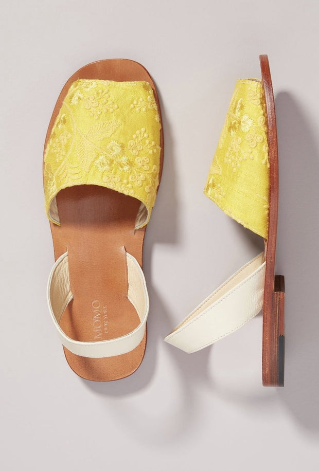 MOMO DESIGN X ANTHROPOLOGIE DESSA BACK SLING LEATHER SANDALS - MOMO NEW YORK
