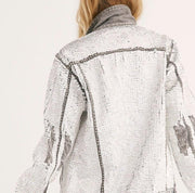 MOMO X FREE PEOPLE SEQUIN EMBROIDERED DEMI JACKET MOMO NEW YORK