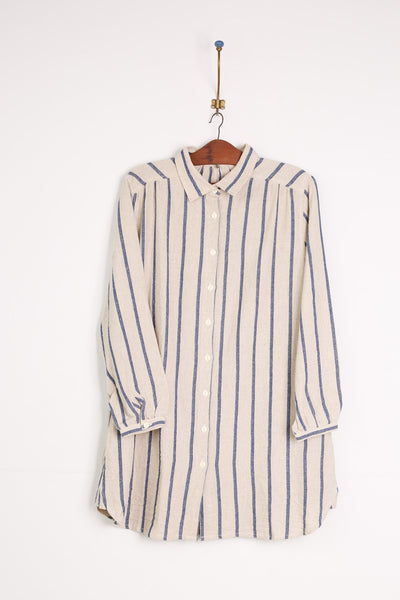 Organic Cotton / Linen Shirt Dress Mimi MOMO NEW YORK