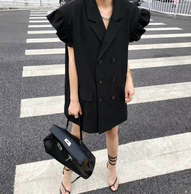 OVERSIZE SHORT SLEEVE BLAZER HELGA - MOMO NEW YORK