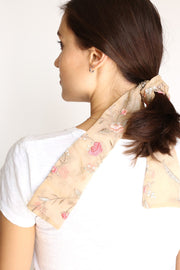 SCRUNCHIE BOW SILK HANNAH - MOMO NEW YORK