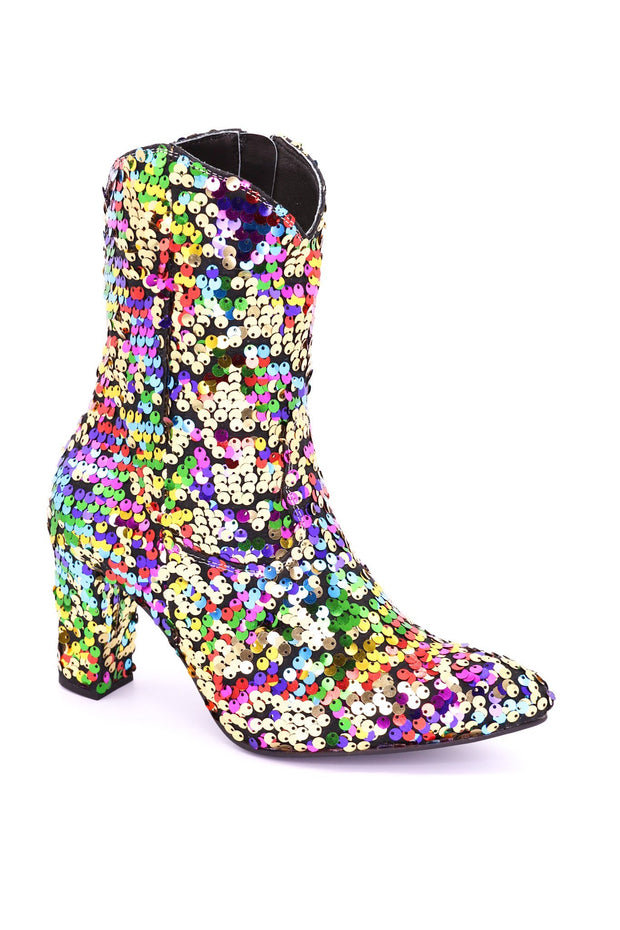 SEQUIN ANKLE BOOTS CARLOTTA - MOMO NEW YORK