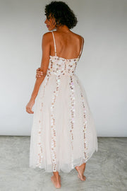 Sequin Bead Embroidered Gown Dress Ruby MOMONEWYORK