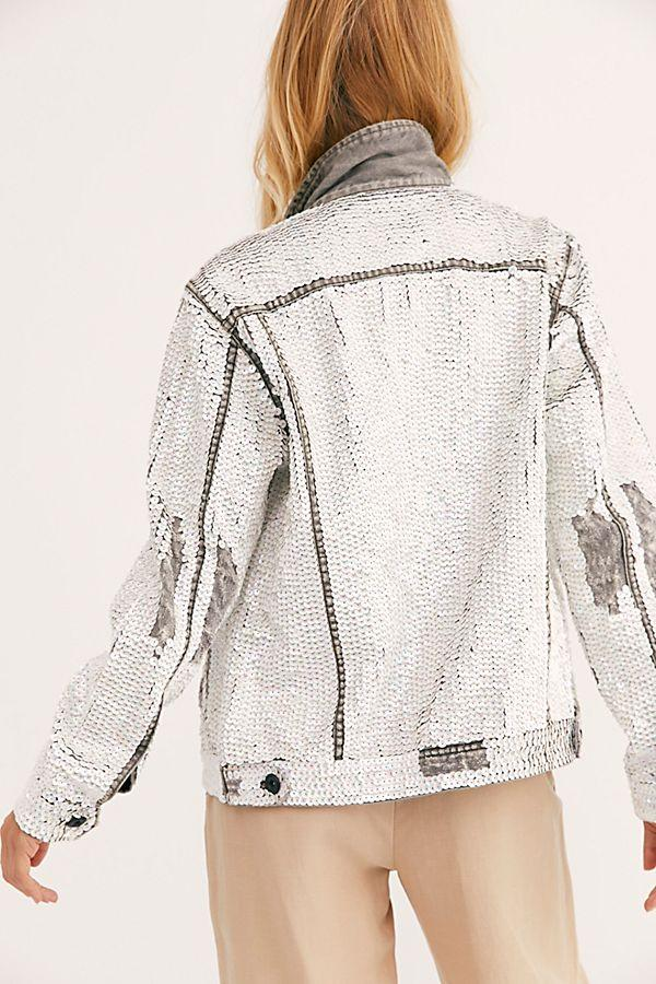 Sequin Denim Jacket Demi MOMONEWYORK