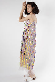 Sequin Embroidered Dress Alma MOMONEWYORK