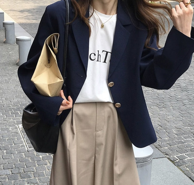 SHORT NAVY BLAZER KATHERINE MOMO NEW YORK