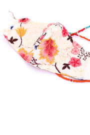 SILK COTTON EMBROIDERED FACE MASK ELLIOT MOMO NEW YORK