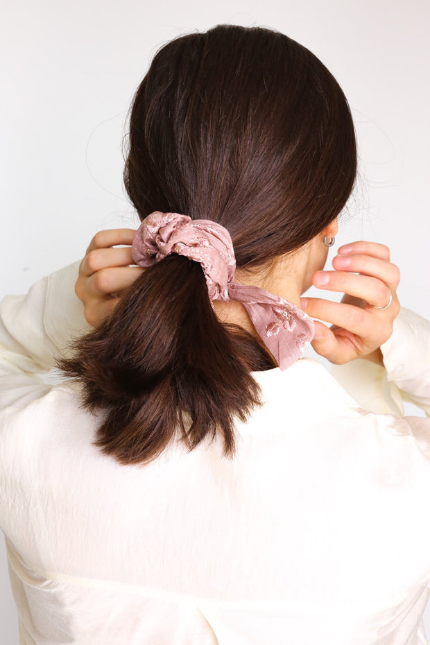 SILK/ COTTON SCRUNCHIE SUSU AYRE - MOMO NEW YORK