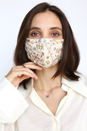 SILK EMBROIDERED FACE MASK MASSA - MOMO NEW YORK