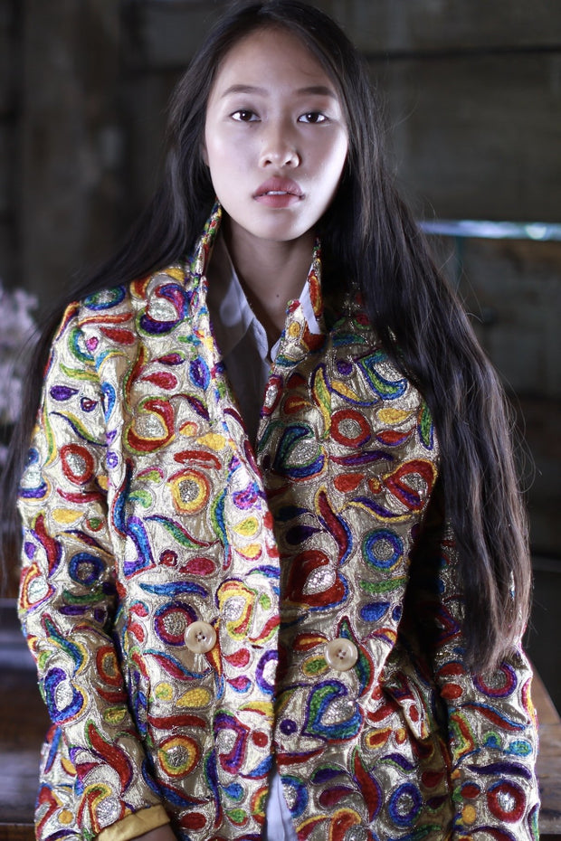 SILK EMBROIDERED JACKET FRIDA MOMO NEW YORK