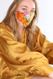 SILK FACE MASK TIJANA (YELLOW) MOMO NEW YORK