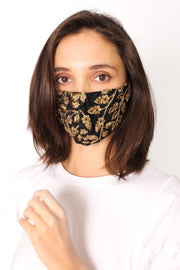 SILK SEQUIN EMBROIDERED FACE MASK CHER - MOMO NEW YORK