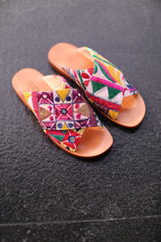 SPRING EMBROIDERED PATCHWORK SANDALS DOAN - MOMO NEW YORK