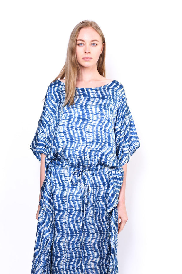 STAYCATION CITY SILK FLOWY KAFTAN DOAN - MOMO NEW YORK