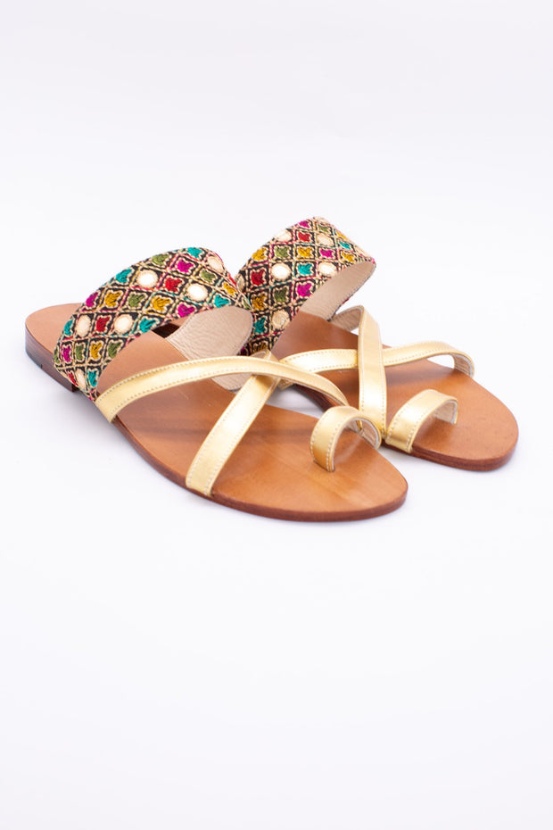 SUMMER LEATHER STRAP SANDALS JILL - MOMO NEW YORK