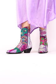 SUNNY DAYS ANKLE BOOTS X FREE PEOPLE (PURPLE) - MOMO NEW YORK