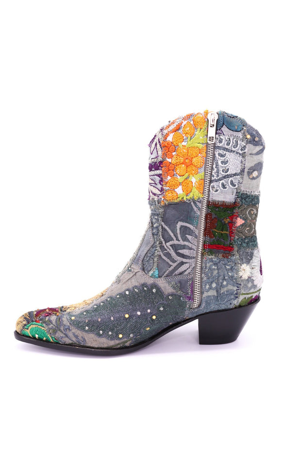 SUNNY DAYS EMBROIDERED ANKLE BOOTS X FREE PEOPLE MOMO NEW YORK.