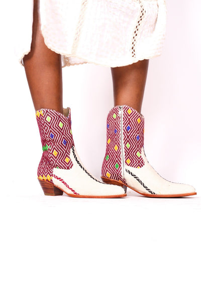 TRIBAL HMONG FABRIC BOOTS MAESON - MOMO NEW YORK