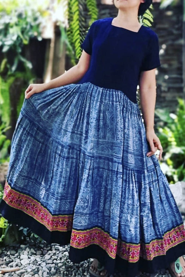 TRIBAL INDIGO SKIRT DINAH MOMO NEW YORK