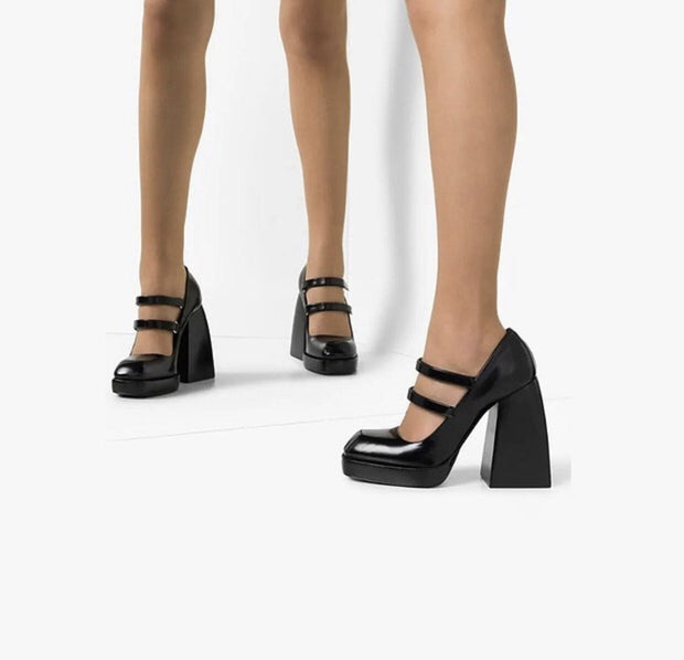 WEDGE HEEL PUMPS SAKO - MOMO NEW YORK