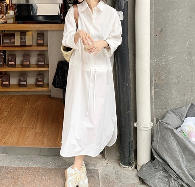 WHITE EVERY DAY DRESS CARLY MOMO NEW YORK