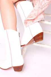 WHITE WESTERN STYLE BOOTS CHARLY - MOMO NEW YORK