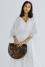 WOODEN HANDBAG VIVIAN MOMO NEW YORK