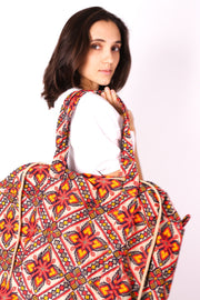 XXL NEEDLE STITCH EMBROIDERED COTTON WEEKENDER - MOMO NEW YORK