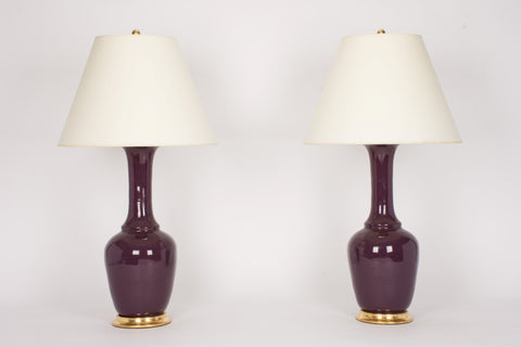 Pair of AP Alex Lamps in Aubergine