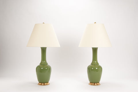 Pair of AP Alex Lamps in Avocado