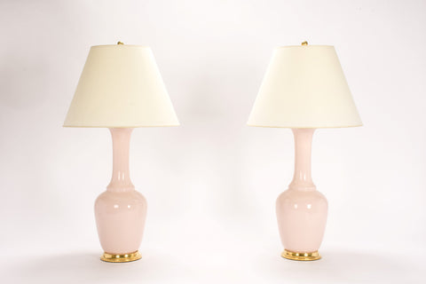 Pair of AP Alex Lamps in Blush Pink