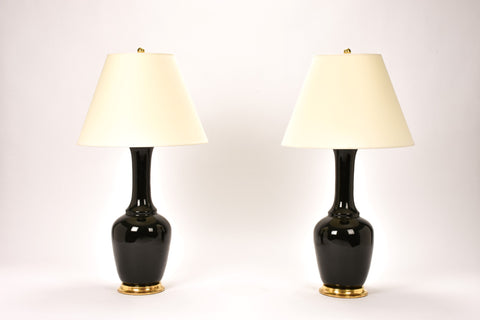 Pair of AP Alex Lamps in Jet Black