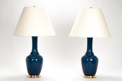 Pair of AP Alex Lamps in Prussian Blue