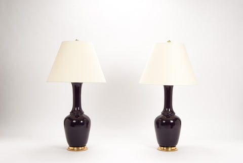 Pair of AP Alex Lamps in Purple