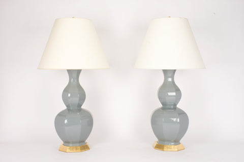 Pair of Alexander Lamps in Blue Grey