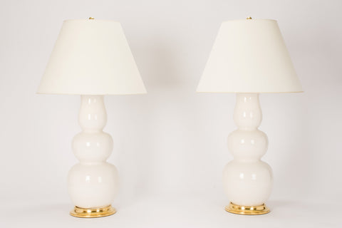 Pair of Allen Lamps in Blanc de Chine