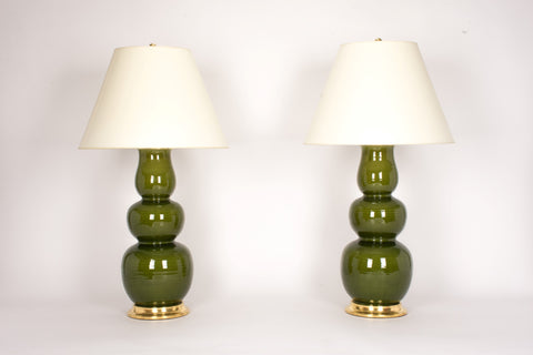 Pair of Allen Lamps in Spruce
