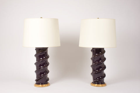 Pair of AN Amanda Lamps in Purple